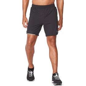 "2XU Aero 7"" Shorts Men, black/silver reflective"